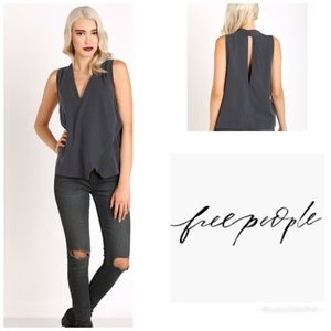 Free People Simply Days Top Slate Top XS